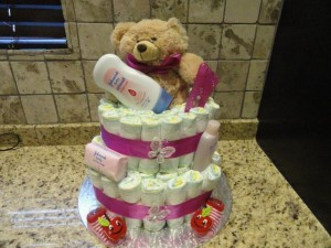 The Nappy Cake and Gift Factory - 2 Tier Cake