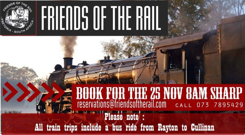 Friends of the Rail Express Train Trip 2017 - Pretoria