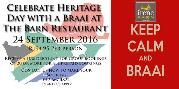 Heritage Day Celebration 2016 - Pretoria - Braai Day