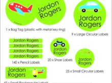 Jitterbugs Kids Labels - Personalised Labels