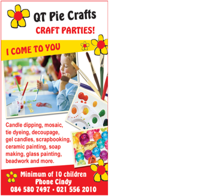 Craft Parties - Cape Town - QT Pie Crafts