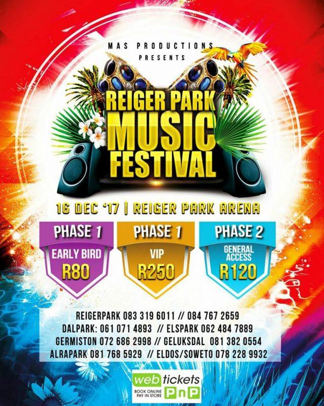 Reiger Park Music Festival 2017 - Boksburg Gauteng