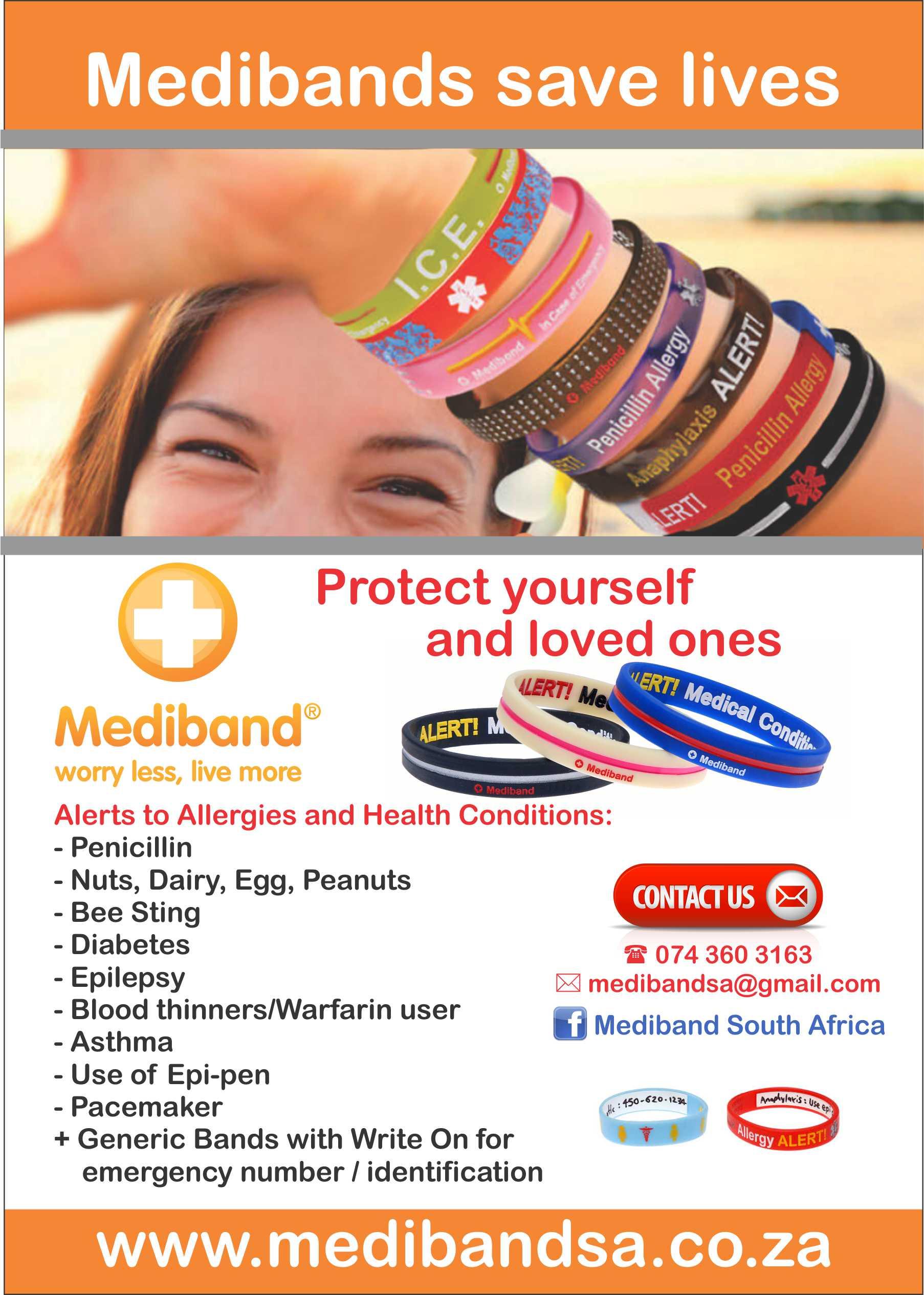 Allergy Wristbands for Kids - Benoni
