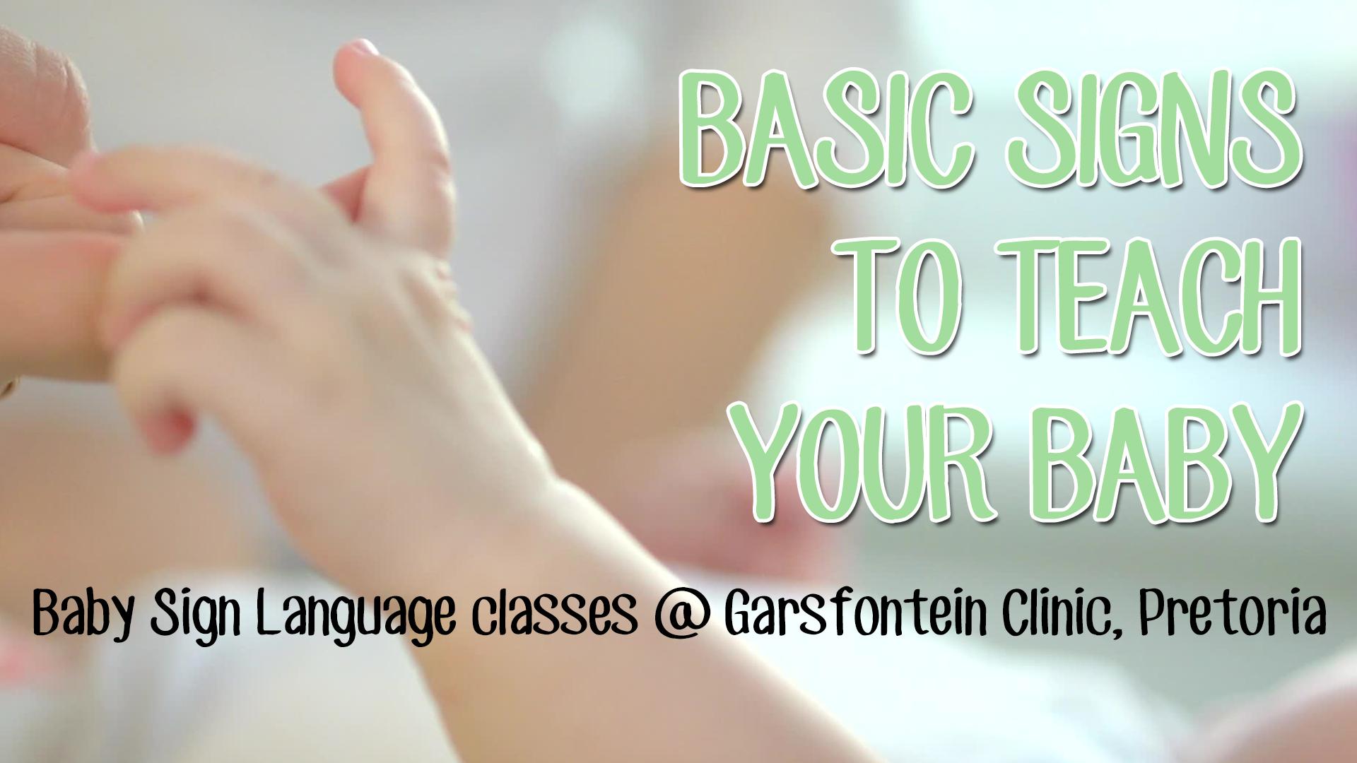 Baby Sign Language Classes - Pretoria