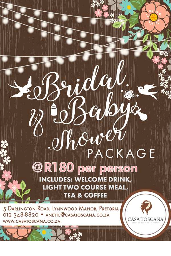 Bridal & Baby Shower Special Packages 2017
