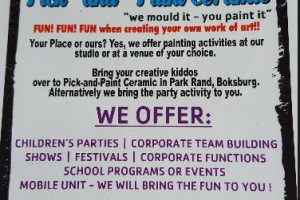 Pick and Paint Ceramic Painting - Boksburg